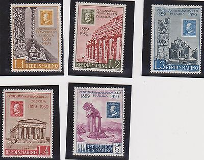 (JI-17) 1959 San Marino partial 5set first stamps MUH