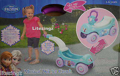Disney Frozen Musical Winter Coach 2 In 1 Pull Along, Ride On, Plays Let It Go