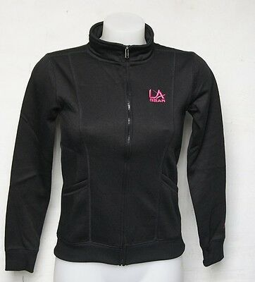 LA Gear Kids Girls Teenagers Black Training Top Full Zip Fleece Lined Jacket