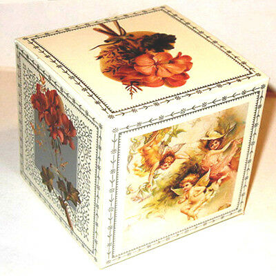 Victorian ANGEL CHRISTMAS FLORAL GIFT BOX es (Pkg of 12) MINT 4X4x4 HTF Shackman