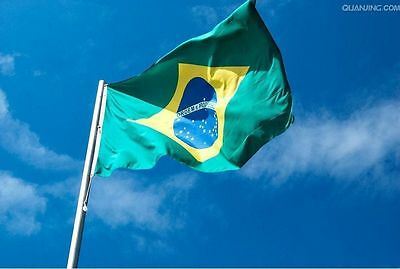 Polyester flag Brasil 64X90CM Brazil flag Hanging country flag fly Brand