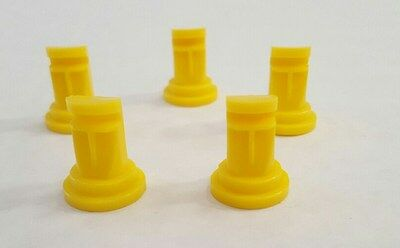 Pack of 5 Yellow Deflector Nozzle Tips 115 degrees from Solo Sprayers
