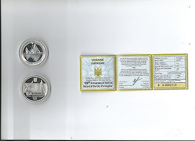 Ukrainian Silver Coin-650th Anniversary of the First Record of City of Vinnytsia