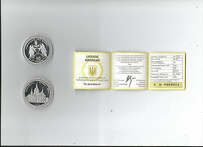 Ukrainian Silver Coins- St. Cyril Church