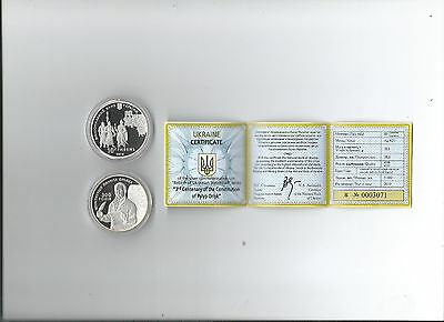 Ukrainian Silver Coins- 3rd Centenary of the Constitution of Pylyp Orlyk
