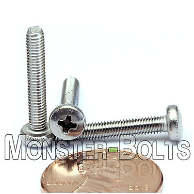 3mm x 0.50 x 18mm – Qty 10 – Stainless Steel Phillips pan head Machine Screws M3