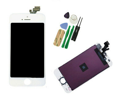 Replacement LCD Touch Screen & Digitizer Display Assembly For iPhone 5 White