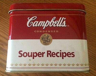 "Campbell's Souper Recipes Tin ""Makes Everything M'm!  M'm!  Better"" 5""x6"". Empty"