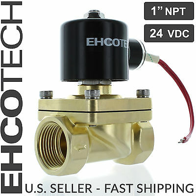 "1"" NPT Brass Electric Solenoid Valve 24-Volt DC 24VDC Water Air Gas NC 1 inch"