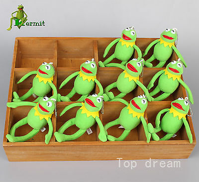 New Kermit The Frog From The Muppets Plush Toy Soft Doll 6.5'' Key Chain Pendant