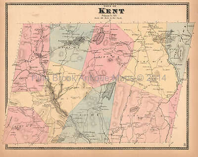 Town of Kent New York Antique Map Beers 1867 Original