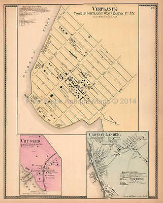 Verplanck New York Antique Map Beers 1867 Original