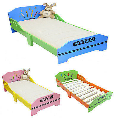 Bebe Style Childrens Crayon Wooden Junior Bed NEW Kids Toddler Cot Bed Childs