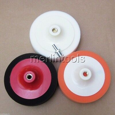 "3 Color 6"" Buffing Pad Set+ Drill Adapter for Auto Car/Boat/motorcycle Polishing"