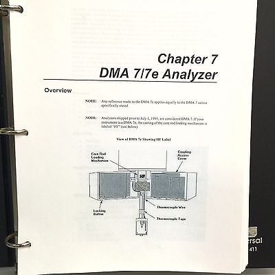 Perkin Elmer DMA 7 7e Analyzer User Manual with section on StepScan