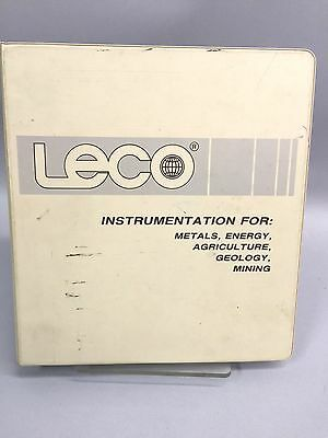 LECO CS-300 Carbon Sulfur Analyzer Instruction Manual with Drawings