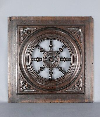 Antique French Carved  wood  Panel 19th