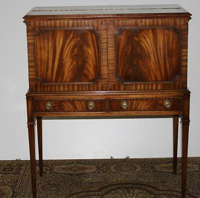 Antique Satinwood Banded Mahogany Bar Cabinet Sideboard Early 20C [PL1561]