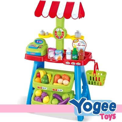 Pretend Play Fruit Shop Stand Playset