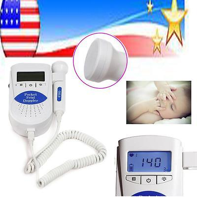 Fetal Doppler 3MHz with LCD Display Baby Heart Monitor USA stock shipping 3-5day