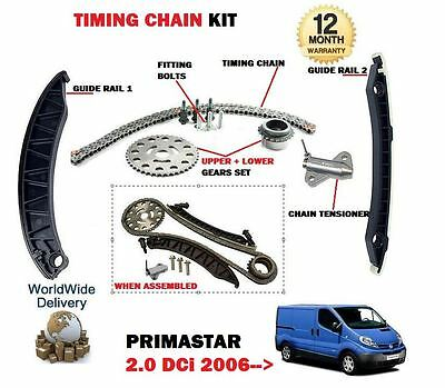 For Nissan Primastar 2.0 Dci 2006-->On New Timing Cam Chain Kit With Gears