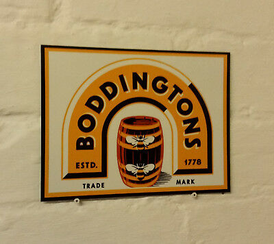 BODDINGTONS, Retro metal Aluminium Sign vintage bar pub man cave beer signs shed