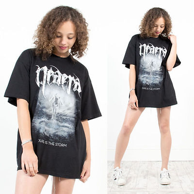 Unisex Retro Neaera Ours Is The Storm Death Metal Oversize Band T-Shirt 16 18