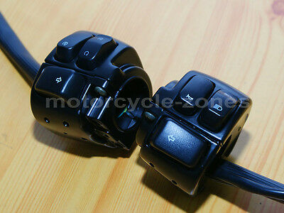 """Motorcycle 1"""" Handlebar Control Switches + Wiring Harness For Harley Davidson"""