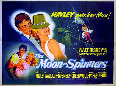 MOON-SPINNERS 1964 Hayley Mills, Peter McEnery HINCHLIFFE UK QUAD POSTER