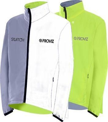 Proviz Switch Mens Reversible Reflective Hi-Viz Cycling Bike Riders Jacket Coat