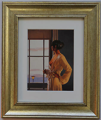 Baby Bye Bye by Jack Vettriano Framed & Mounted Art Print Picture Gold
