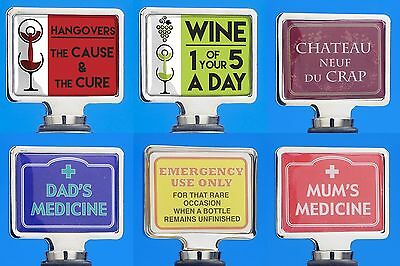 Novelty Wine Bottle Stopper Cork 12 Varieties to Choose From! Gift Xmas Present