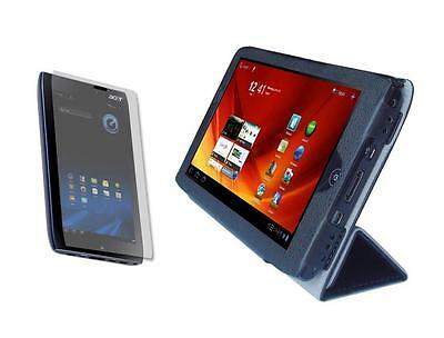 Black Folio Skin Cover Case and Screen Protector for Acer Iconia A100 Tablet