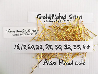 Jewellery Wholesale Bulk Findings Supply Making Head Pins Mixed Goldplated (P4)