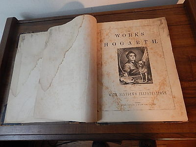 Antique Works Of Hogarth Book 62 Illustrations London England International Sale