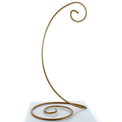 "10.5"" Spiral Bottom Ornament Stand in Gold Painted Finish (Small)"