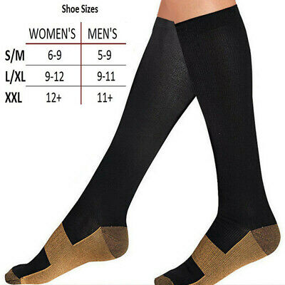Copper Infused Anti-Fatigue Compression Socks High Relief Varicose Vein Stocking