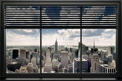 30 24x36 Poster New York City Sunset Window View Cityscape T-897