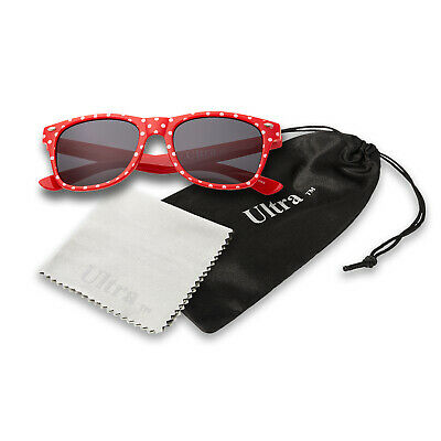 Red Spotty Kids Childrens Sunglasses Classic Girls Boys Shades Fashion Glasses