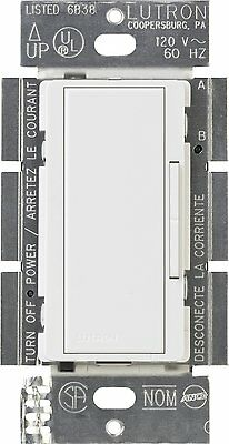 Lutron DVCL-153P-WH CFL/LED DIMMER, White