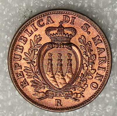 1938 San Marino 10 Centesimi Coin, ungraded