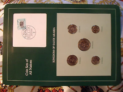 Coin Sets of All Nations Saudi Arabia 1400 - 1408 (1980-1988) UNC w/card