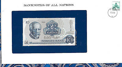 Banknotes of All Nations Norway 10 Kroner 1982 P 36c UNC Prefix BA