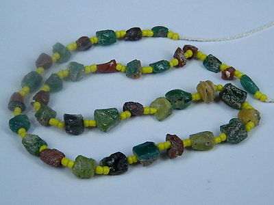 Ancient Glass Fragment Beads Strand Roman 200 BC    #ML1142