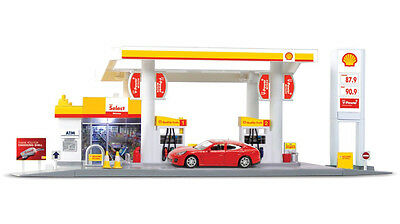 RMZ City 1:64 DIECAST Shell Service Station Playset Car White Model COLLECTION