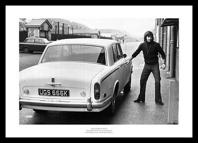 George Best Outside Old Trafford 1972 Manchester United Photo Memorabilia (150)