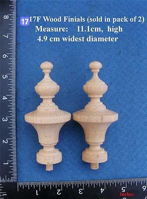 Pair of Clock / furniture Finials Style 17F