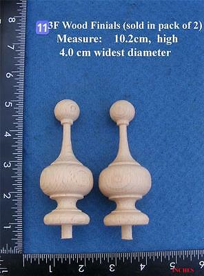 Pair of Clock / furniture Finials Style 11F