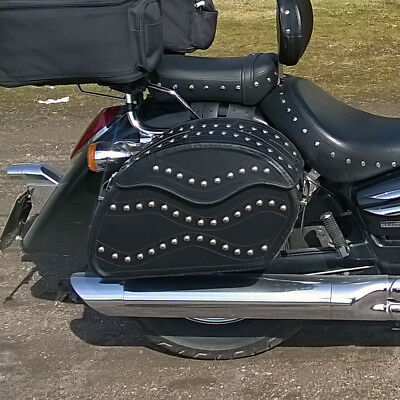 Motorcycle  Leather Saddlebags Panniers Honda Vt1100 Shadow F6C Valkyrie Gl1500