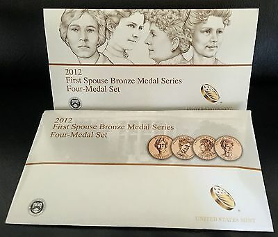 2012 FIRST SPOUSE MEDALS SET US Mint New 1st Lady Bronze Coins SET